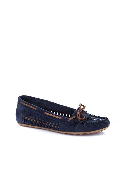Elle Deri Loafer Ayakkabı Lacivert